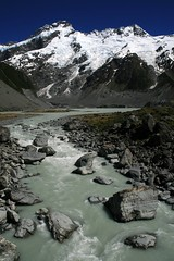Mt Sefton, New Zealand (lachlansear) Tags: newzealand mountain snow grey peak rapids glacier snowcapped valley nz summit mtcook gorge tasman southernalps mountcook aoraki tasmanglacier hookerglacier mtsefton greywater 10faves mountsefton tasmanvalley aplusphoto superhearts