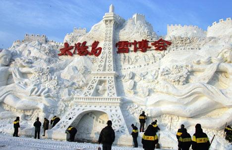 Chinese ice sculpture