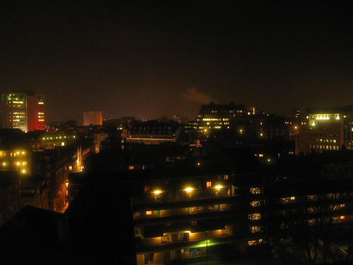 London - A view from my hotel room by night 5