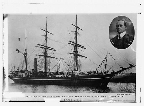 So. Polar Expedition - Capt. Scott and his exploration ship: TERRA NOVA (LOC)