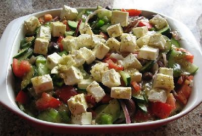 Quick easy greek salad recipe
