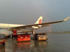 15/01/2008 Arco-iris atras do Air China