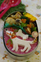 white doggy bento (luckysundae) Tags: kawaii bentobox obento kyaraben