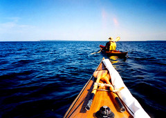 Point of no Return (cedarkayak) Tags: voyage lighthouse crossing michigan lakemichigan greatlakes adventure kayaking sleepingbeardunes paddling compass seakayaking glenhaven southmanitouisland cedarstrip woodboat nationallakeshore windowofopportunity manitoupassage seaseamx5 cedarkayak offshorekayaking kayakingtosouthmanitouisland