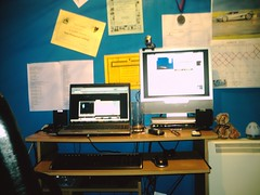 My Home Office (jonathan_tech_guy_24) Tags: home office tv laptop monitor second