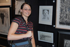 Me and my Artwork (bivoir) Tags: show art puppy handle with drawing royal bulldog exhibition care sydneyroyaleastershow