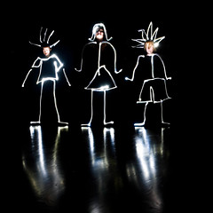 March 28, 2008: The Family That's Silly Together... (Ein Schu) Tags: longexposure family selfportrait lightpainting kids self this stickfigure loved day32 whitelight 365days actuallytsidea andweexpoundedonit podcastminichallengenightphotos