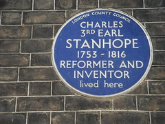 Photo of Charles Stanhope blue plaque