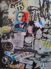 HOPE (nickzegel) Tags: street philadelphia st golden stash sticker south fairey philly obama shepard barack obamarama