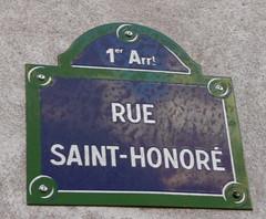 Rue St.Honore Paris par Berni✿❀❃