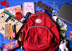 what's on MY SCHOOL bag (lul ) Tags: school red money history sunglasses hair bag notebook french mirror ipod candy sheep backpack bubblegum vaio russian juicyfruit picnik hairbrush pencilcase keykeeper cea capricho whatsonmybag jamf wsonur