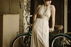 Something New (.Bradi.) Tags: new wedding selfportrait girl vintage dress bikes bicycles bridesmaid onlyonemoremonthuntilthewedding