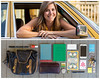 Anna Diptych (J Trav) Tags: persona whatsinyourbag showusthecontentsofyourbag theitemswecarry diptych atlanta woman car portrait thingsorganizedneatly