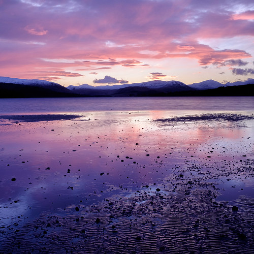 Afterglow (Christopher Swan) Tags: landscape sunset highlands mountains hills wwwchristopherswanphotographycom fujifilm clouds loch gloaming fujifilmlandscape scotland pink photography sky xt1 snow argyll light