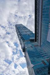 Reach Up to Heaven (Rice Bear) Tags: taipei taiwan city skyline skyscraper street buildings clouds sky blue taipei101