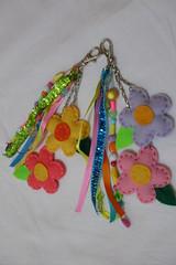 Chaveiros de Florzinhas (Leidy Oliveira) Tags: artesanato feltro chaveiro