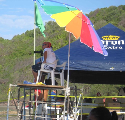 Photo tower at surf competition