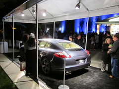 Porsche Panamera Turbo on the Plaza at the Greek Theatre (PorscheLosAngeles) Tags: tower greek war power display theatre hills turbo porsche beverly concerts sponsor panamera