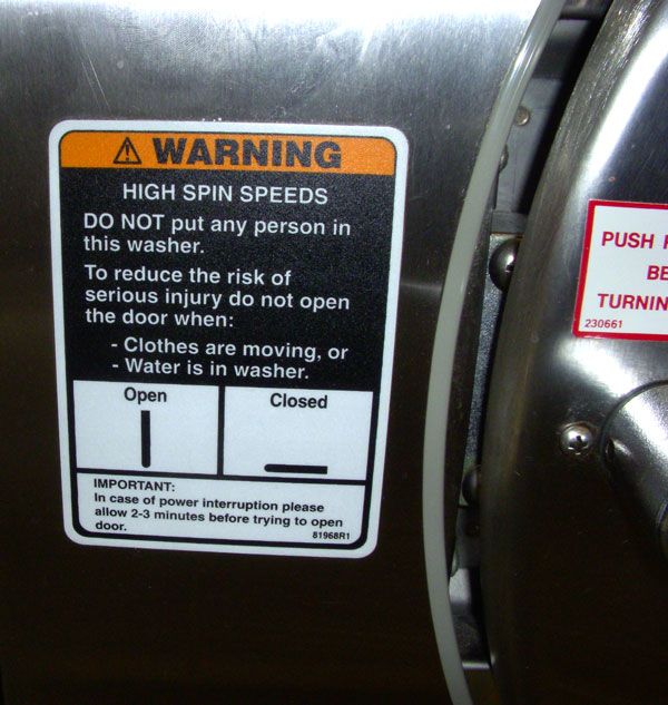 DO NOT put any person in the washer.