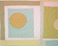 sun and moon (square one studio) Tags: sun moon modern quilt handmade sewing quilting quilts patchwork groovy artquilt babyquilt sunandmoon logcabinblock modernquilt quiltedthrow circlequilt