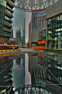 Berlin - Sony Center Reflection (hdr)