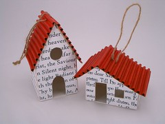 House ornaments (PatchworkPottery) Tags: christmas house paper crafts cardboard ornament carols