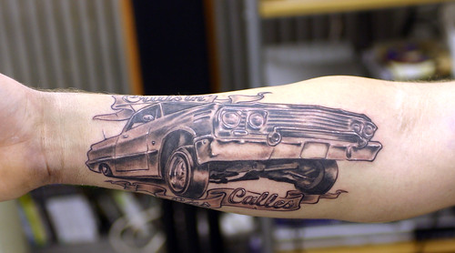 Cadillac. Tattooed at The Tattoo Studio, Crayford