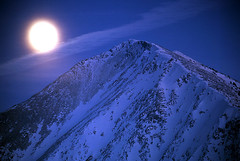Full Moon Rising (justb) Tags: park blue winter moon mountain snow mountains film night rising washington bc snowy fullmoon velvia cascades fujifilm manning justb justinbrown