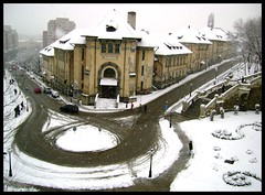 Let it Snow :D (Lucian Simionesei) Tags: street city winter white snow cold strada freeze romania build iasi moldova lucian roumanie cfr moldavia iarna frig zapada oras