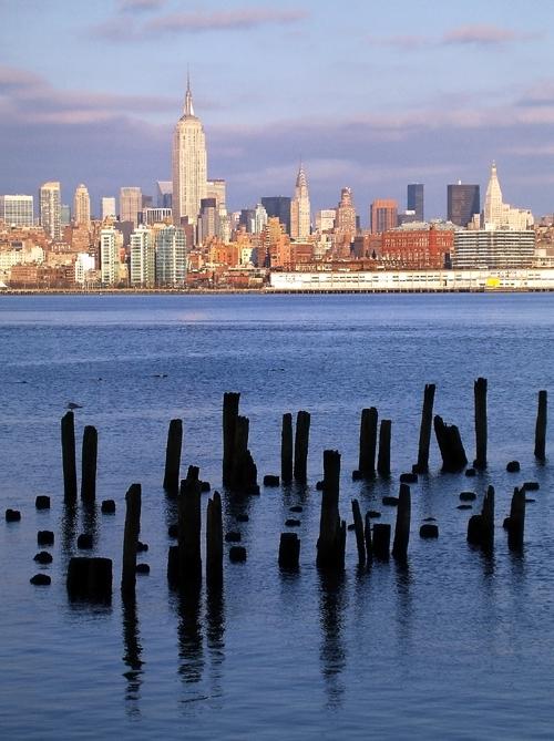 pier ruins, Hudson River, Manhattan