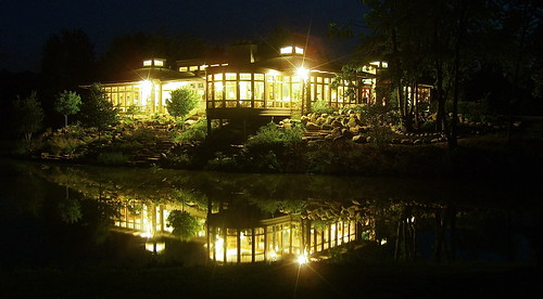 The Cooper House At Night.