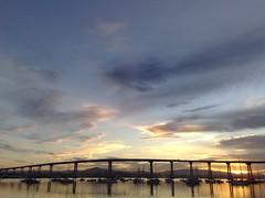 Coronado Bridge, Sunrise of the Bay @San Diego (Jimmy@R.H.) Tags: california ca trip travel usa america sunrise bay unitedstates sandiego  coronadobridge