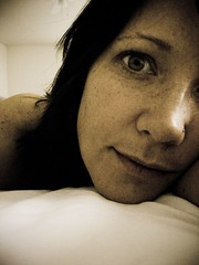 9/365 (insatiable73) Tags: white closeup relax bed piercing lazy 365 grainy partial insatiable73
