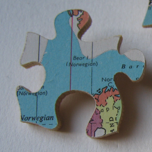 world map jigsaw brooches | Flickr - Photo Sharing!