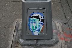 IMG_0384 (ultraclay!) Tags: streetart ny newyork history brooklyn graffiti icons reverend historic lamppost doctor williamsburg blackpeople bklyn mlk activists martinlutherkingjr arteurbano bkny ultraclay