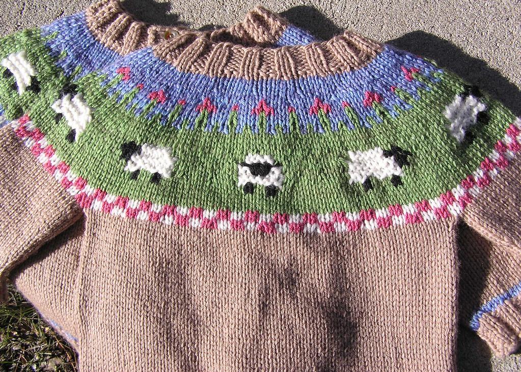 Sheep Yoke Baby Cardigan The Sweatshop Of Love Blog