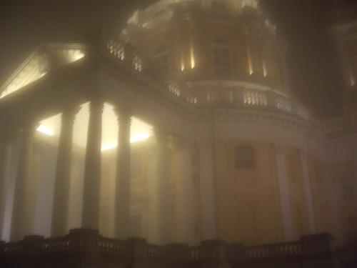 Vista espectral en una noche de invierno