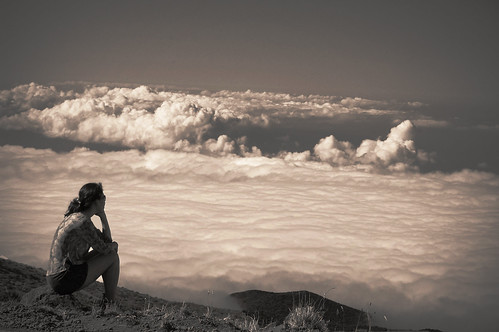 ...alone with the clouds...