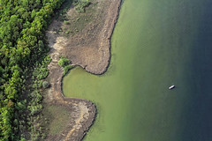 Lake Ammer (Aerial Photography) Tags: lake reed water by forest germany bavaria bay aerial shore ll obb anawesomeshot uttingaammerseelkrlandsber