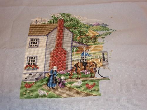 mid-cross stitch