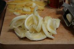 Morceaux de citron pour le tajine