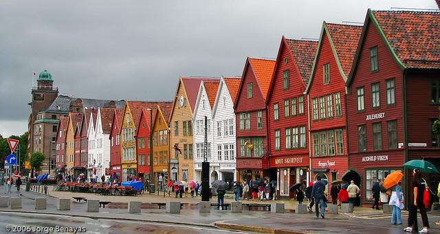 Barrio de Bryggen, Bergen (Noruega)