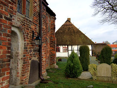 School museum (Anke L) Tags: school vacation graveyard museum germany island f30 cementary rgen 2008 halftimbered thatched mecklenburgvorpommern middelhagen