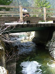 Bridge over underwater creek