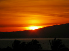 Mexican Sunset (knightbefore_99) Tags: ocean sunset sea sun sol beach mexico surf jalisco palm nayarit mexican bayofbanderas