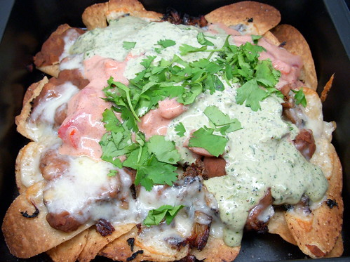 TV Night Carnita Nachos (fairly low fat!)