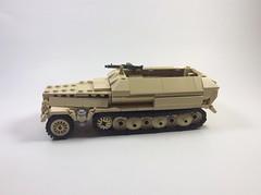 Sdkfz 251 (main pic) (mjbricks(flose master)) Tags: lego tank panzer german africa sdkfz 251 brickarms