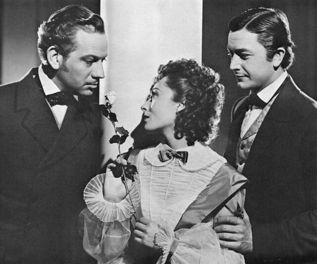 Melvyn Douglas, Luise Rainer, and Robert Young