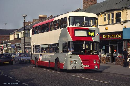 Northumbria Motor Services (ex-Busways) Leyland Atlantean / Alexander 502 (MVK517R)