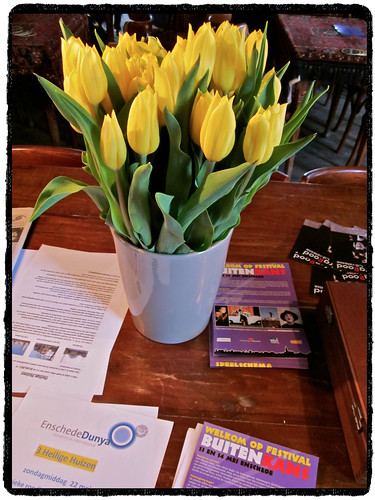 Nice tulips in Café Het Bolwerk • Enschede by Marcel van Gunst